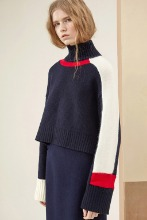 Asymmetric Raccoon and Wool-Blend Turtleneck Sweater
